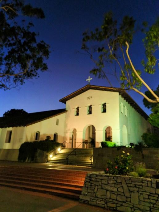 Night at Mission San Luis Obispo 1