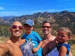 Taylor Family at Pinnalces National Park Pinnacle Range 2