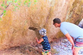 Taylor Family at Pinnalces National Park hiking talus caves trail 3