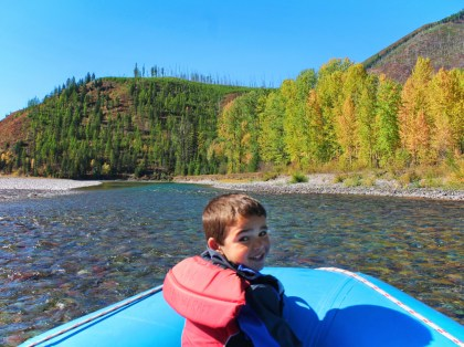 Taylor Family floating Flathead River Glacier Guides Montana Rafting Glacier National Park 2