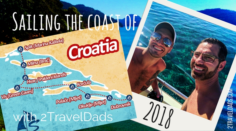 Sailing Croatia is a dream travel experience. From medieval towns to crystal clear waters in secluded coves, the Dalmatian Isles of the Adriatic Sea are a bucket list destination. 2traveldads.com