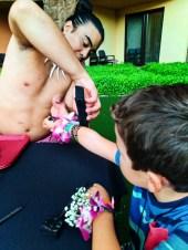 Taylor Family at Ka Waa Luau Disney Aulani Oahu 6