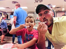 Taylor Family at Sparkey's Ice Cream Downtown Tempe 2