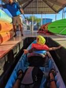 Taylor Family at Tempe Town Lake Kayaking under bridges 7