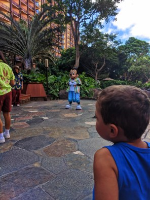 Taylor Family with Mickey Character Dining at Disney Aulani 1