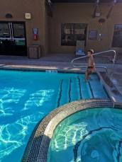 Taylor family at pool at Residence Inn Downtown ASU 1