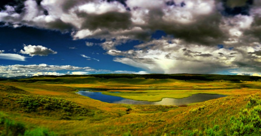 Clouds over Hayden Valley Yellowstone National Park Wyoming 1