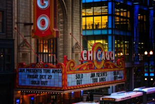 Colorful Marquee at Chicago Theater Downtown Chicago 1