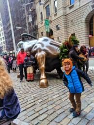 Taylor Family exploring Wall St NYC
