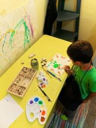 Taylor Family doing art Homeschooling WorldSchooling 2