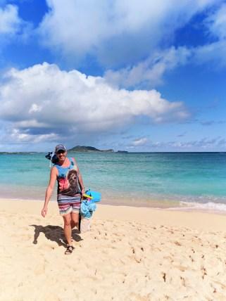 Taylor family at beach Lanikai Kailua Oahu 21