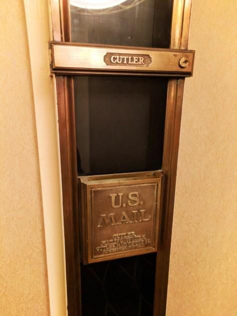 Vintage Mail Chute at Millennium Knickerbocker Hotel Chicago 1