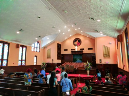 Inside Ebenezer Baptist Church at Martin Luther King Jr National Historic Site Atlanta 1