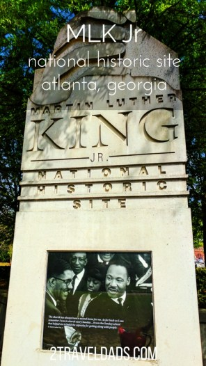 A visit to the MLK National Historic Site is a must when in Atlanta. The Civil Rights museum and MLK sites are incredible for experiencing the history and emotion of the movement and its leader, Martin Luther King Jr. 2traveldads.com