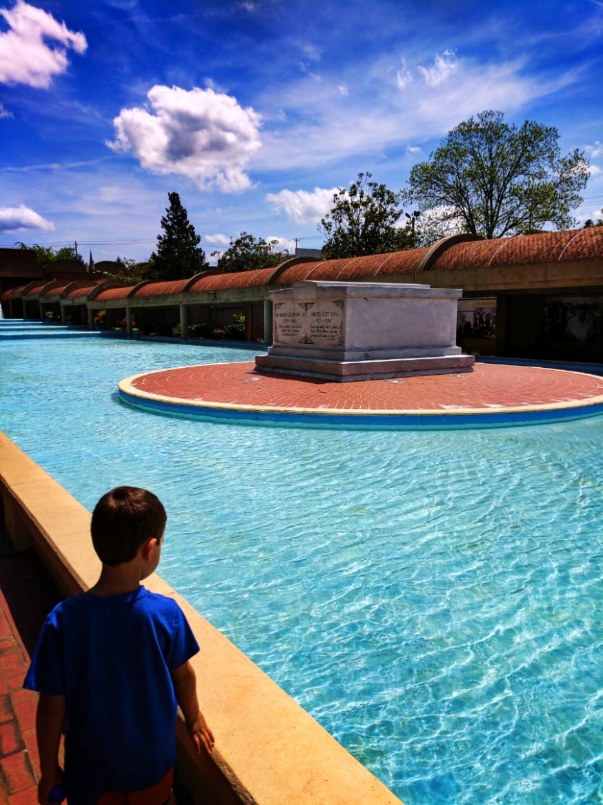 Reflecting Pool and Crypt at Martin Luther King Jr National Historic Site Atlanta 2