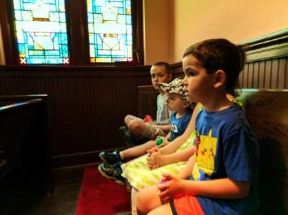 Taylor Family at Ebenezer Baptist Church at Martin Luther King Jr National Historic Site Atlanta 2