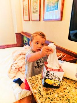 Taylor Family using Kleeex and Viva Towels KC Disneys Grand Californian Hotel Disneyland 1