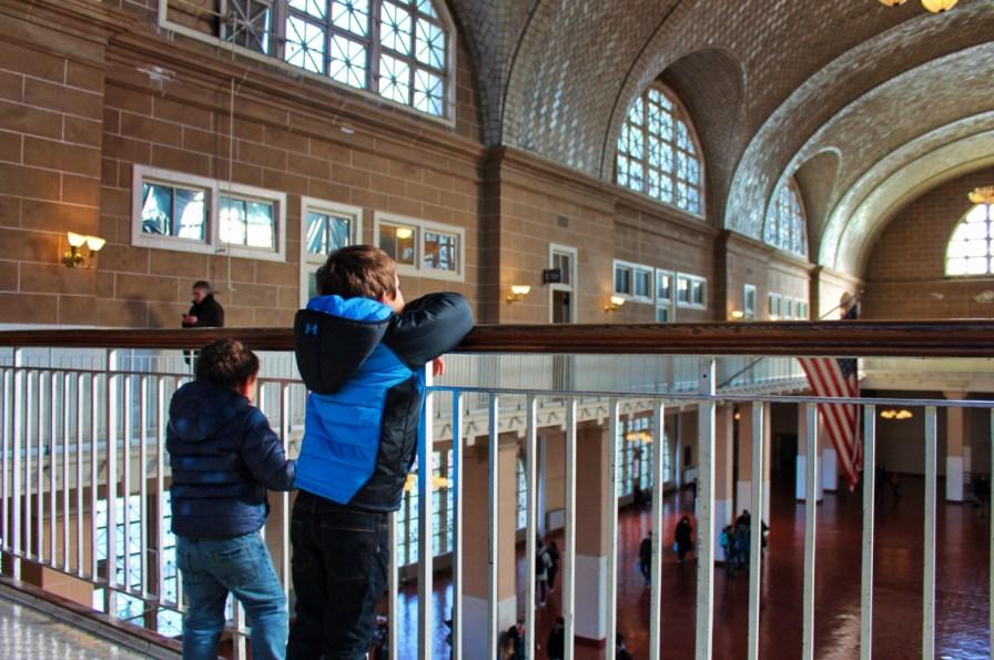 Taylor Family in Registration Hall Ellis Island New York City 1