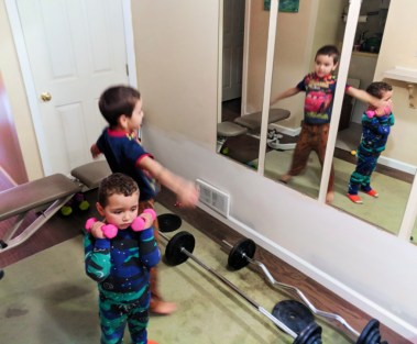 Taylor family exercising at home Self-care 1