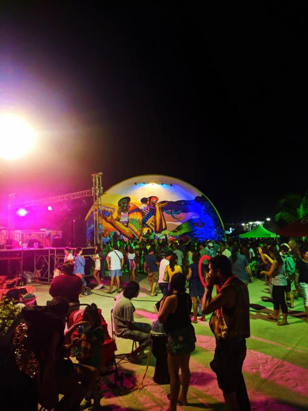 Carnival Celebration in Downtown Holbox at Night Isla Holbox Yucatan 4