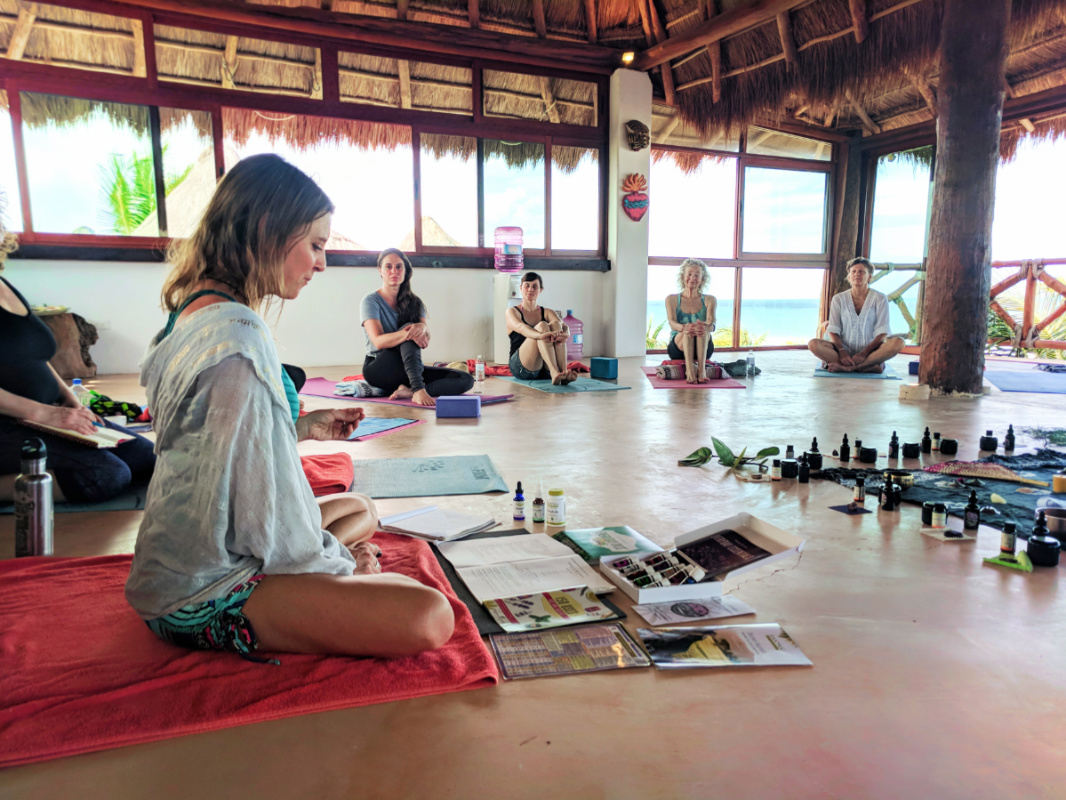 Joanne Matson Ayurveda discussion at Isla Holbox Yoga Retreat 1