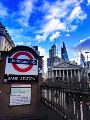 London Underground entrance London UK 1