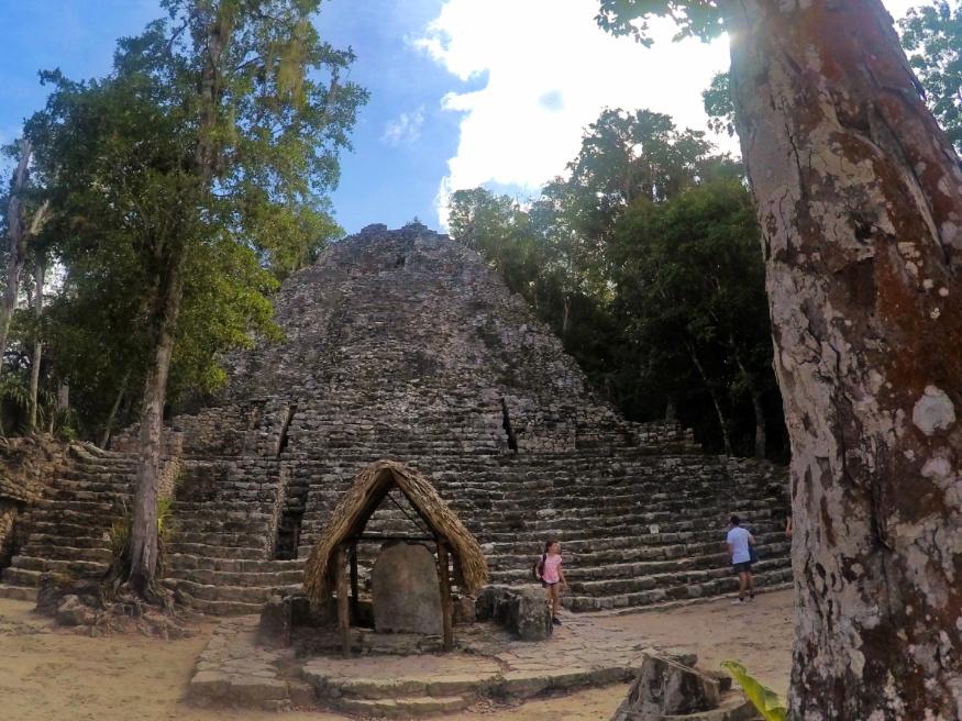 Pyramid steps at Coba Ruins Mayan Ruins Yucatan 1