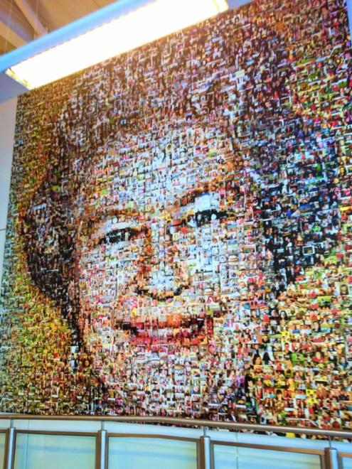 Queen Elizabeth II Mural at London Gatwick Airport 1