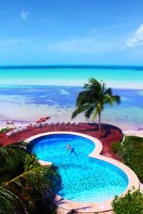 Rob Taylor in Pool at Hotel Villas Flamingos Isla Holbox Yucatan 2