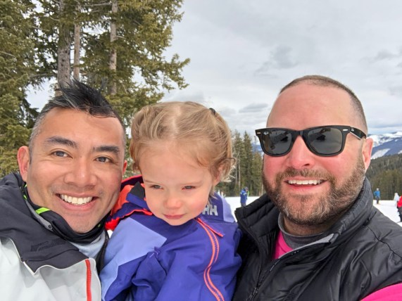 Rich SkiLikeADad family pic in Vail Colorado 2018 1