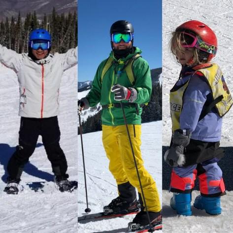 Rich SkiLikeADad family pic in Vail Colorado 2018 6