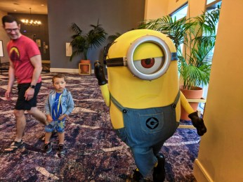 Taylor Family at Minions Character Breakfast Sapphire Falls Resort Universal Orlando 2