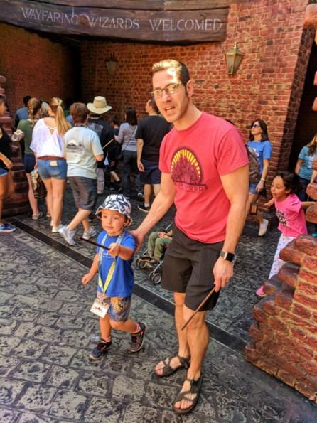 Taylor Family first entrance to Diagon Alley Universal Studios Florida 2