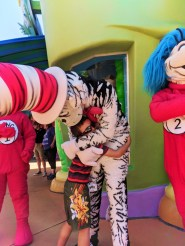 Taylor Family with Cat in the Hat in Seuss Landing Universal Islands of Adventure Orlando 2