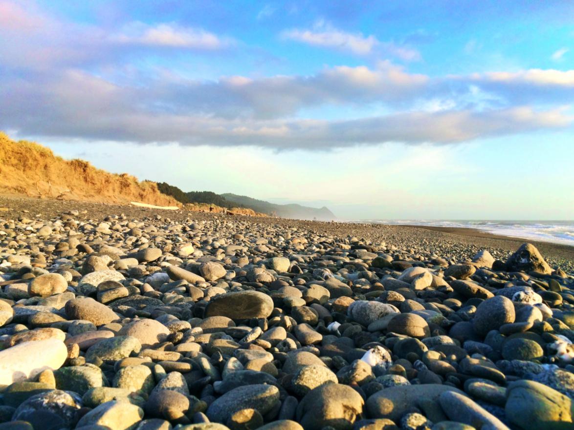 Beach rocks at Gold Beach Oregon Coast 1