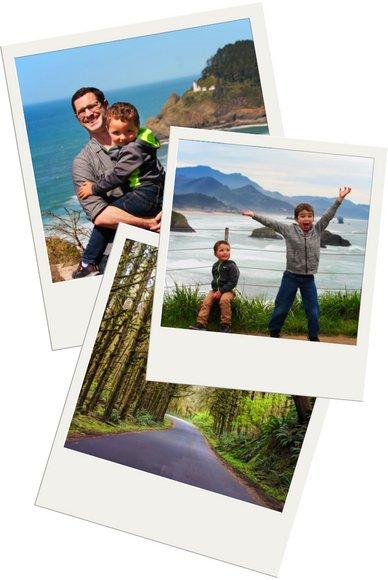 Oregon Coast Road Trip polaroid