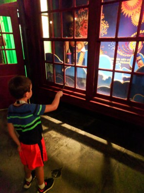 Taylor Family Casting Spells in Hogsmeade Wizarding World of Harry Potter Universal Islands of Adventure 7