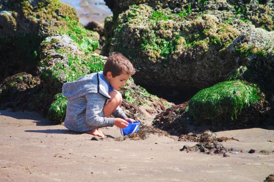 Taylor Family at Tidepools at Pacific City Oregon Coast 12
