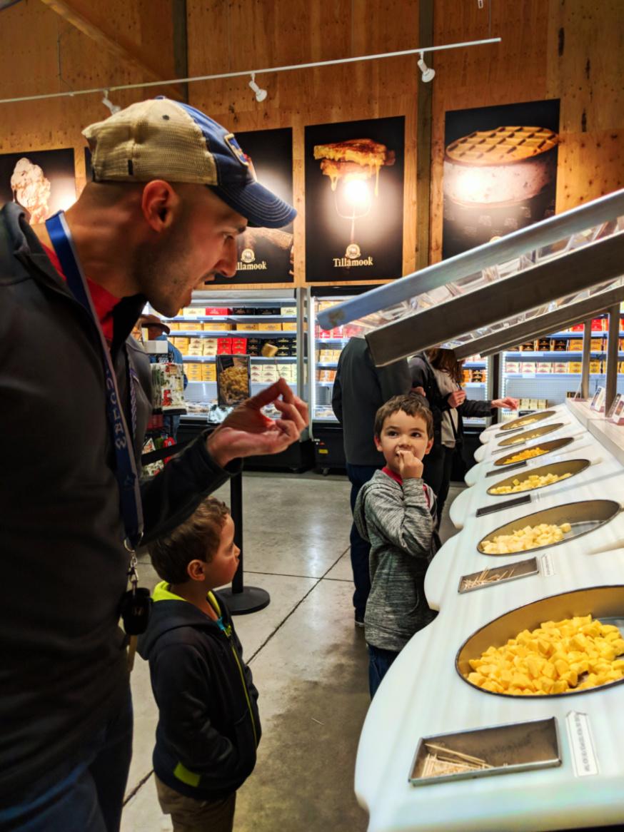 Taylor Family at Tillamook Cheese Factory Oregon Coast 3