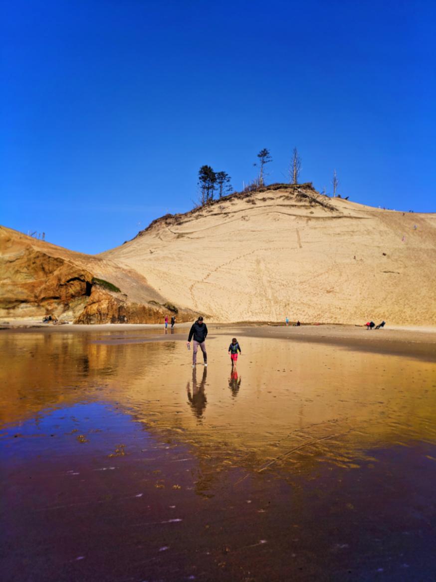 Taylor Family on beach at Pacific City Oregon Coast 6