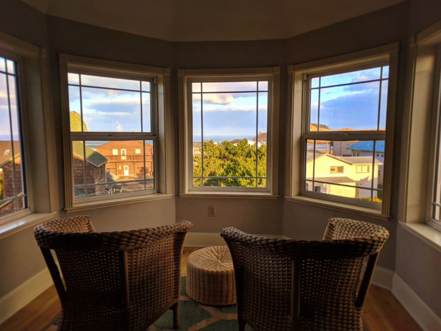 View from VRBO Vacation Rental in Pacific City Oregon Coast 1