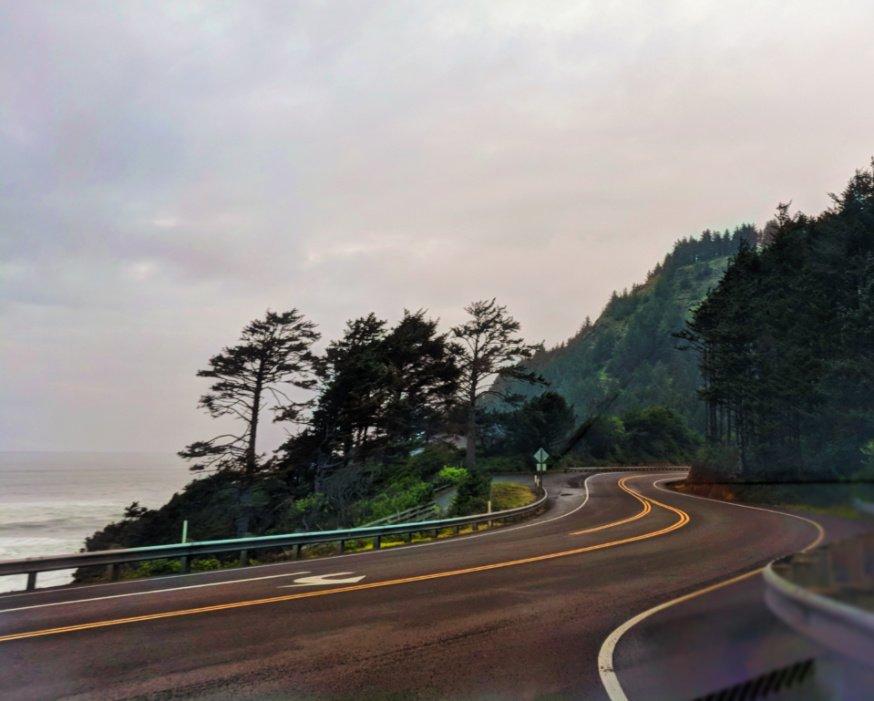 Winding road at Cape Perpetua Florence Oregon Coast 1