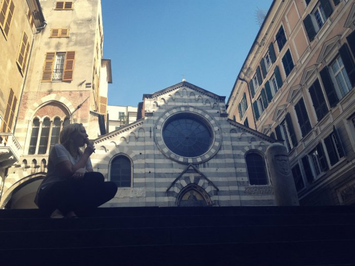 And....we ate gelato in front of important Italian architecture.