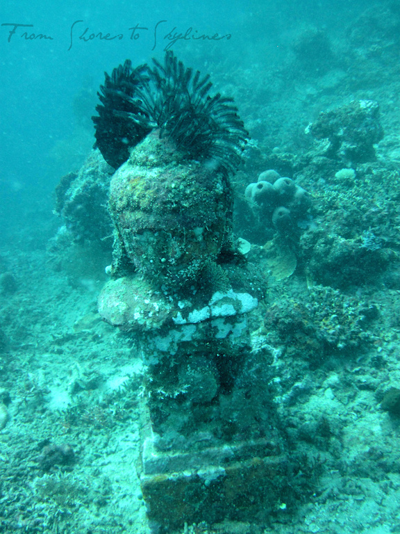 Buddha statue at the Underwater Temple Garden.