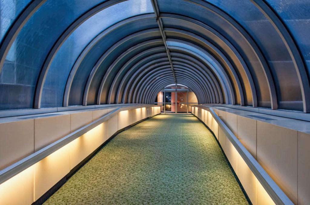 Inside the downtown Grand Rapids Skywalk