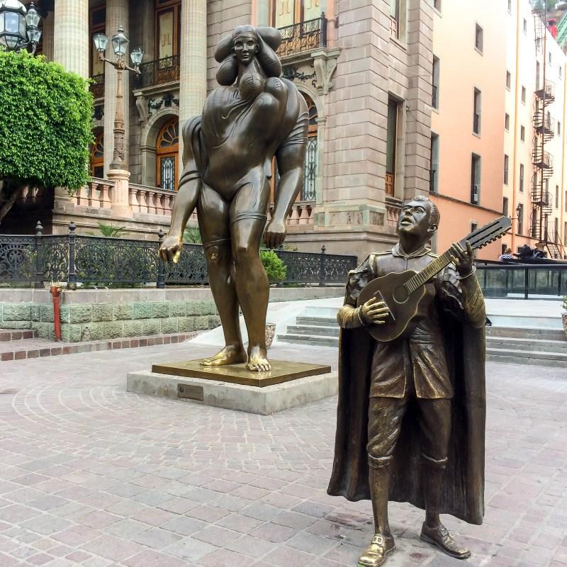 Statues Across from the Jardin de la Unión