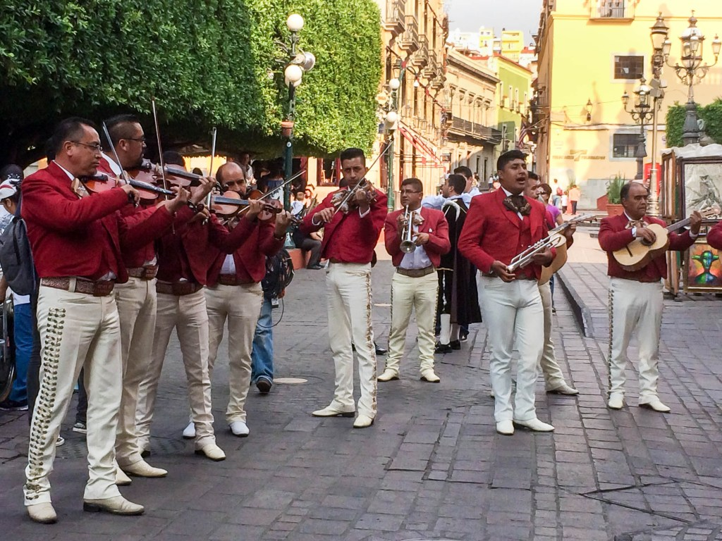 Mariachis Across from the Jardin de la Unión