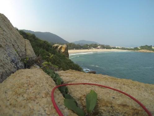 Rock Climbing near the beach