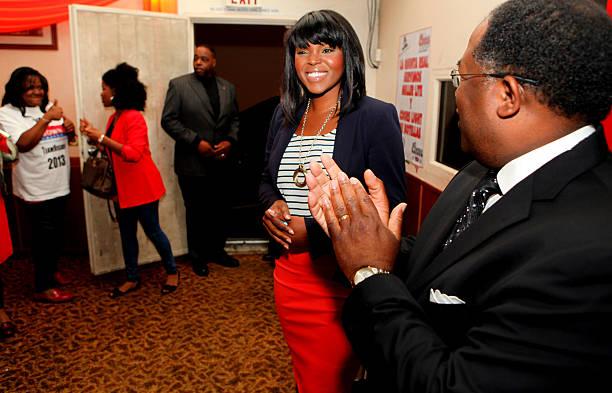 Compton Mayor Aja Brown and County Supervisor Mark Ridley-Thomas