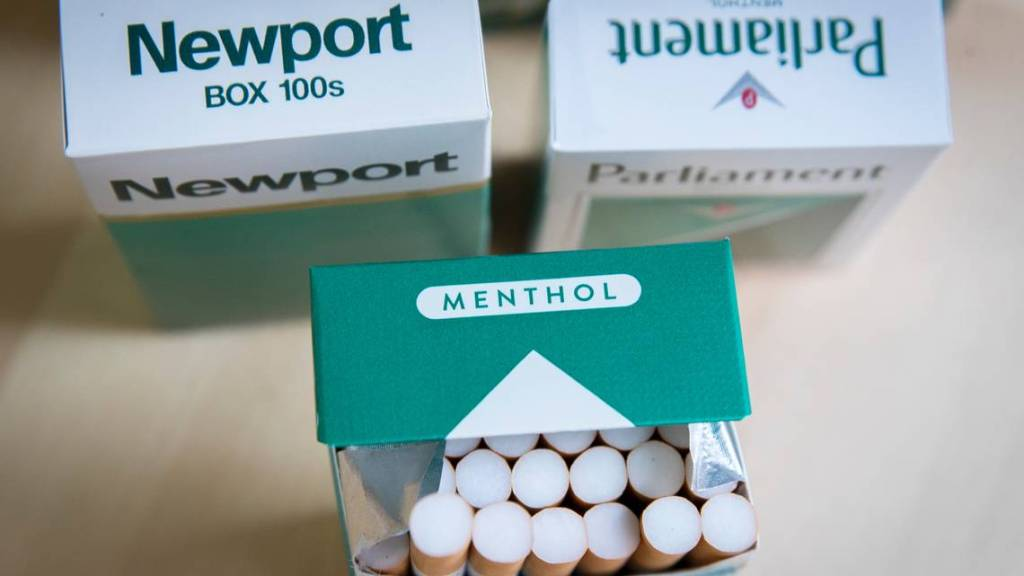 In this photo illustration, packs of menthol cigarettes sit on a table. DREW ANGERER TNS